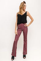Pantalone Bordeaux righe Zanpa
