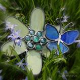 Bloem met vlinder van randlood