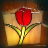 Tiffany waxinelicht met tulp