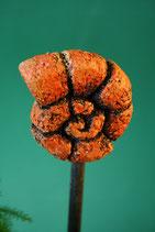 Mini-Keramikschnecke rötlich für Stab