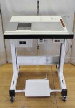 革漉き機用テーブル・省スペース型+サーボモーター付き+キャスター付き+引出し式ダクト