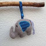 Rassel-Elefant Punkte türkis