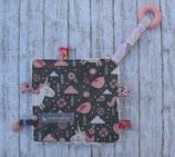 Knistertuch «Einhorn grau-rosa»
