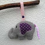 Rassel-Elefant rosa-violett