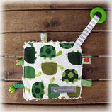Knistertuch «Schildkröten grün»