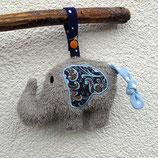 Rassel-Elefant Blautöne