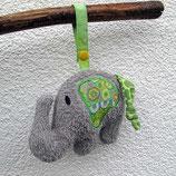 Rassel-Elefant hellgrün