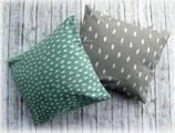 Arvenkissen-Serie Muster mint/grau