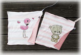 Nuschi-Tüechli Flamingo und Bär rosa