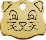 Brass Cat Face
