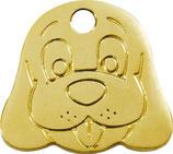 Brass Dog Face