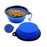 Collapsible Silicone Dog/Puppy Travel Food/Water Bowl + 2 Free Tick Removers