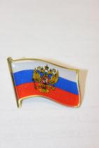 Значок Герб РФ на флаге
