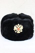 Шапка Ушанка -Черная-