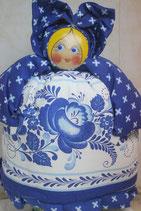 "Кукла на чайник ""Агриппина"" гжель"