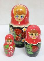 "Матрешка 3 места ""Хохломская"""