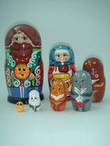 """Матрешка 7 мест """"Колобок"""""""