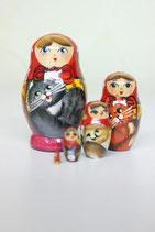 "Матрешка 5 мест мини  ""Девочки"""
