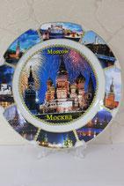 """Тарелка сувенирная  большая """"Москва"""""""