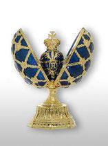 Яйцо двойное с короной и часами /0221