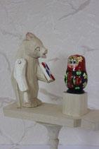 """Богородская игрушка """"Мишка с матрешкой"""""""