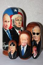"""Матрешка """"Путин и Трамп"""""""
