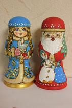 Матрешки  Дед Мороз+ Снегурка