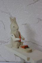 """Богородская игрушка """"Зайка с морковкой"""""""