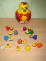 Курочка с яйцами