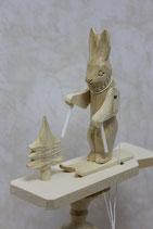 """Богородская игрушка """"Зайка лыжник"""""""