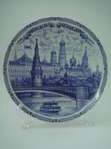 """Тарелка сувенирная 20см """"Кремль"""" гжель"""