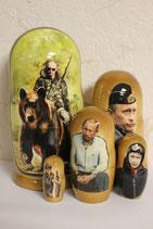 Матрешка  Путин на медведе