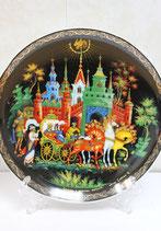 """Тарелка сувенирная """" Золотой петушок"""" (8)"""