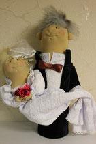"""Матрешка-штоф """" Жених-Невеста"""""""