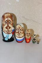 "Матрешка ""Путин"" шарж"