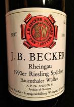 1990 J.B. Becker Riesling Spätlese Rauenthaler Wülfen