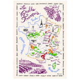 Torchon La Carte des vins de France
