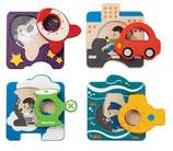 PLANTOYS Fahrzeuge Puzzle