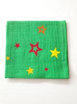 Noschi Mittelgrün mit Sternen rot/gelb