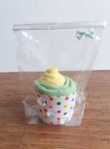 Cup Cakes hellgelb/lindgrün