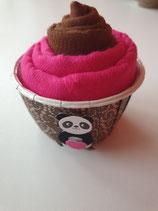 Cup Cakes schoggibraun/pink