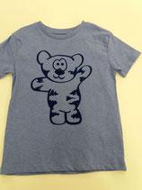 Tegerbär T'Shirt blau Flockdruck