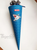 Schultüte Hai, inkl Beschriftung