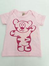 Tegerbär T'Shirt rosa Flockdruck
