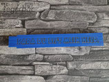 Holzmeter Blau: Papa du bist mein Held