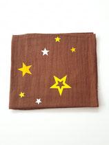 Noschi braun mit Sternen weiss/gelb