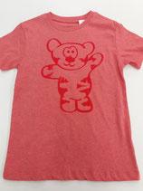 Tegerbär T'Shirt rot Flockdruck