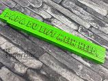 Holzmeter grün: Papa du bist mein Held