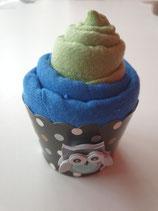 Cup Cakes lindgrün/ blau