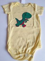 Body Dino hellgelb Grösse 80/86